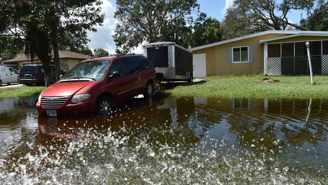 Flooding and damage after Hurricane Irma on Tuesday, Sept. 12, 2017 in Lakewood Park, in St. Lucie County.