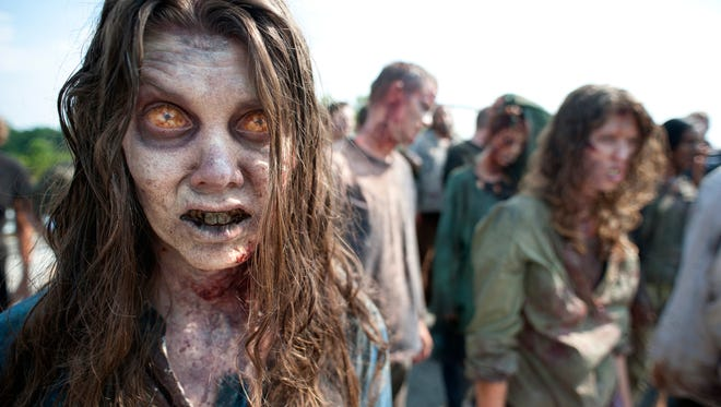 Zombies from the second season of 'The Walking Dead.'