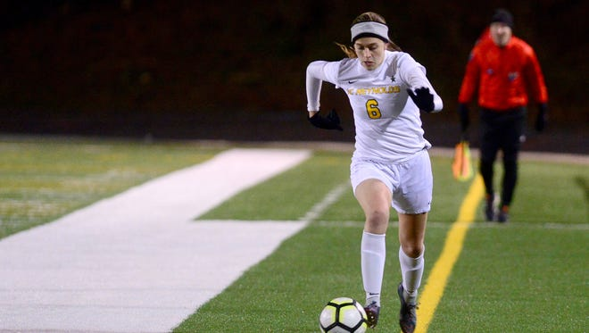 Reynolds took on North Henderson in girls soccer at Reynolds High School on Wednesday, March 7, 2018. The Rockets defeated the Knights 9-0 in almost 45 minutes of play.