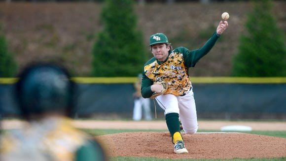 Reynolds pitcher Jordan Pendley delivers a pitch during