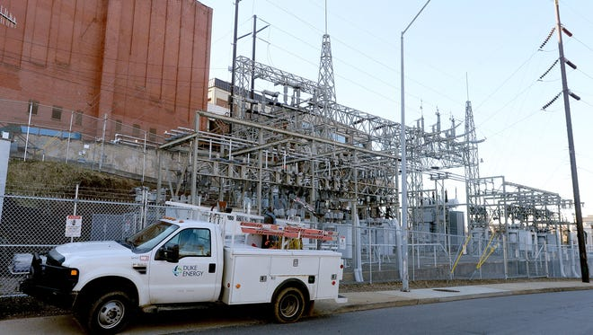 The Duke Energy power substation behind the U.S. Cellular Center in downtown Asheville is air-insulated.