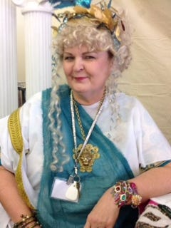 Pulpwood Queens Book Club founder and leader Kathy L. Murphy wore many costumes during Girlfriends Weekend.