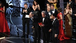 Jordan Horowitz, a producer for 'La La Land,' holds