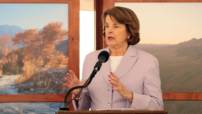 FILE - U.S. Sen. Dianne Feinstein has asked President Barack Obama to bypass Congress and create three national monuments in the California desert.