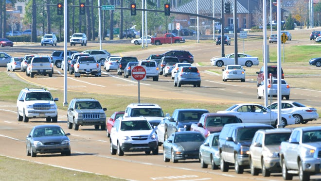Lakeland Drive/Mississippi 25 will be widened from four lanes to six between Airport Road and Grants Ferry Road in Rankin County. Groundbreaking for the project was Wednesday.