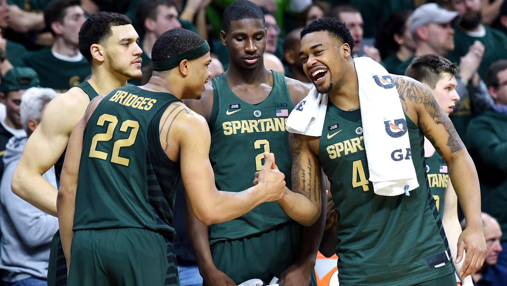 Braden Burke Michigan State Spartans Final Four Basketball Jersey - White