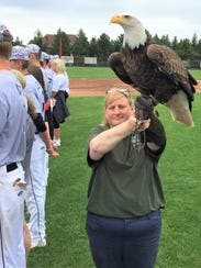 An American bald eagle paid a visit to the Northville