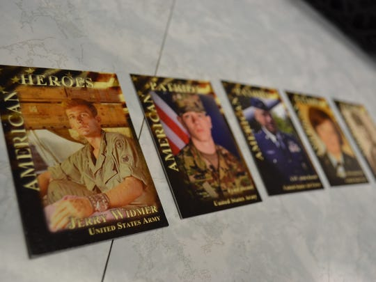 Each year at Veterans Day, Fremont Baptist Temple gives veterans or their family members a free box of 200 veterans cards. The cards, which are similar to baseball trading cards, depict a photo of the veteran and information about their military service.