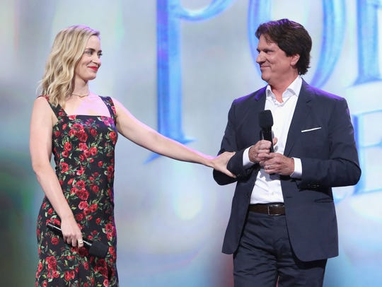 Emily Blunt and director Rob Marshall of 'Mary Poppins