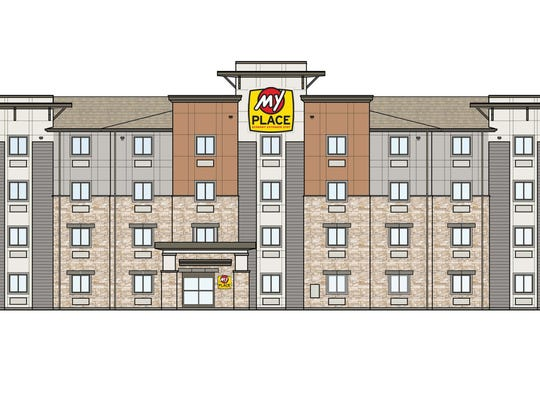 A rendering of the My Place Hotel-St. George.