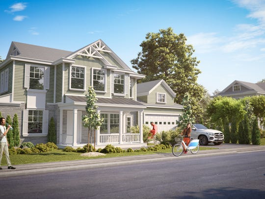 Renderings depict homes a developer wants to build
