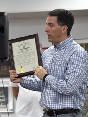 Gov. Scott Walker recognizes Sevastopol's Destination Imagination success. To see a photo gallery of the visit, go to www.doorcountyadvocate.com.