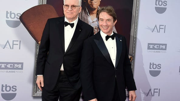 Honoree Steve Martin left, and Martin Short at the