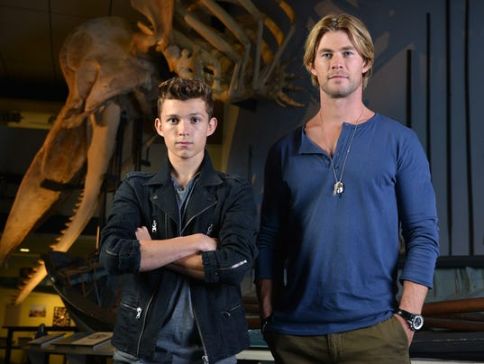 tom holland chris hemsworth are 39 sea 39 heroes at heart