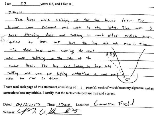 This is one of several witness statements collected