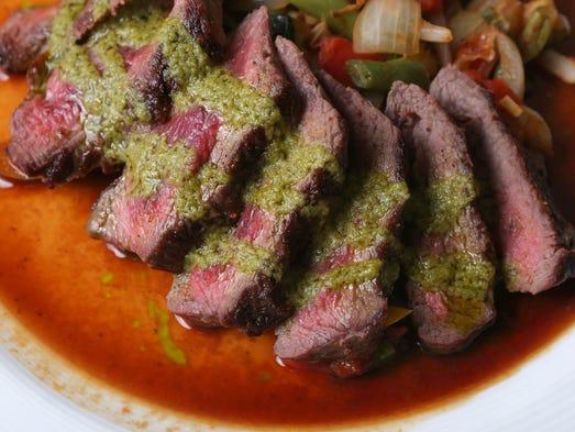 Grass fed steak at HoQ in Des Moines on Thursday, July