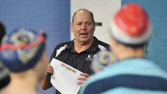 Roberson coach Jim Cottam's swimmers set a number of records at Saturday's Mountain Athletic Conference meet.