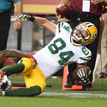 Green Bay Packers wide receiver Jared Abbrederis (84)