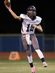 Damonte Ranch quarterback Cade McNamara has given a verbal commitment to Notre Dame.