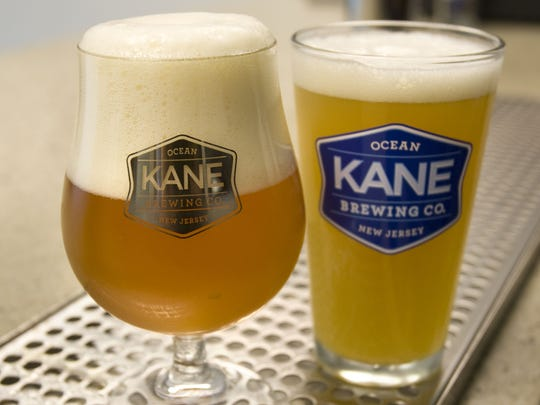 A pair of beers pictured in Kane Brewing Company's Ocean Township facility.
