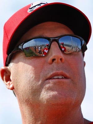 Reds manager Bryan Price looks on during spring training in Goodyear.