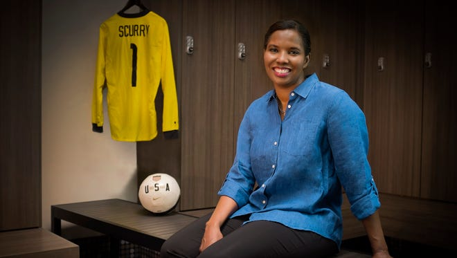 Briana Scurry played in four World Cups for the U.S. women's soccer team, winning a title in 1999.