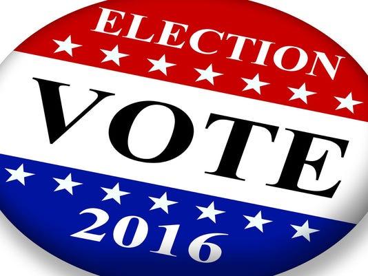USA election badge voting