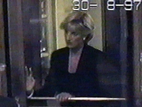 Security footage captures Princess Diana arriving at