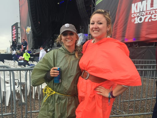 These Country Thunder attendees made fashionable ponchos