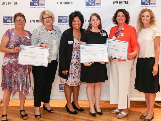 United Way of Martin County presented three grants