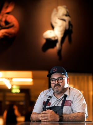 Gray & Dudley chef Levon Wallace in the new restaurant opening soon in the new 21c Museum Hotel in downtown Nashville.