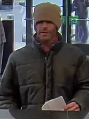 Police are seeking a man who robbed a TD Bank in Oaklyn