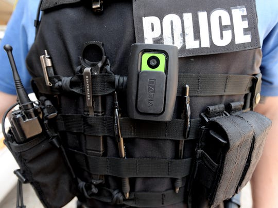 Sgt. Skyler VanZandt has a body camera on his vest. The Shreveport Police Department could expand the use of body-worn cameras on police officers to document interactions between police and citizens.