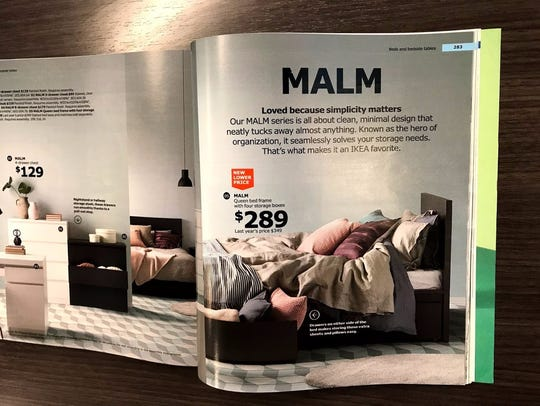 The malm bedframe.