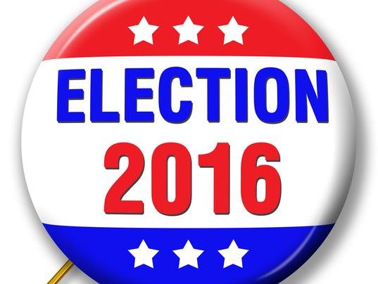 Pin symbolizing 2016 Election
