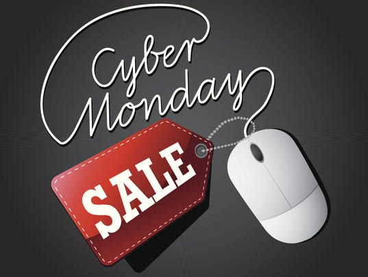 Cyber Monday sale mouse and tag