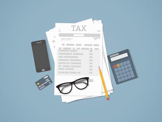 Taxes calculation illustration