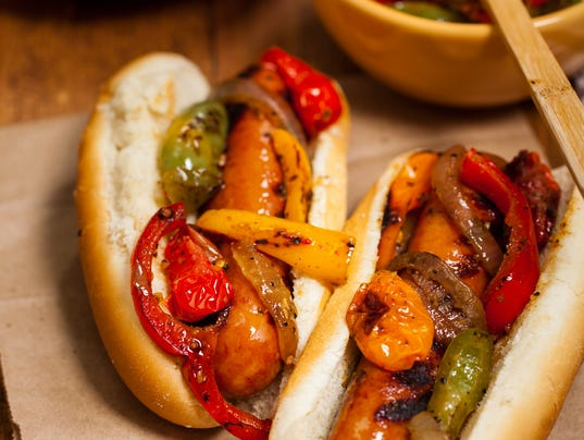 Sausage and Roasted Pepper Sandwich