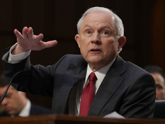 Attorney General Jeff Sessions testifies before the