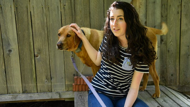 Courtney Franke, a high school senior at Franklin Classical School, poses for a portrait at her home in Franklin, Tenn., Monday, May 14, 2018.