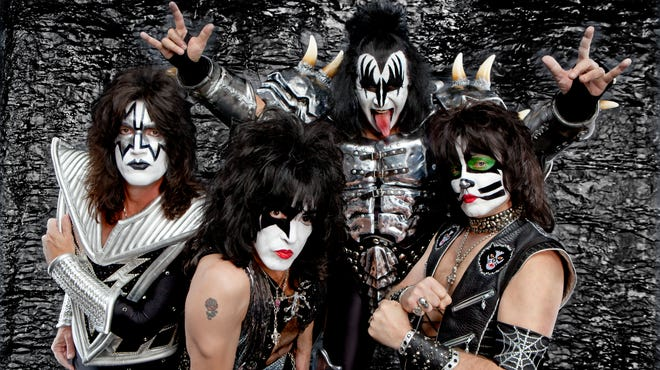 Kiss — clockwise from top: Gene Simmons, Eric Singer, Paul Stanley and Tommy Thayer — will play a Las Vegas residency at The Joint inside Hard Rock Hotel & Casino in November.