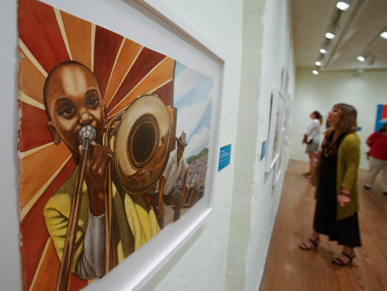 """An illustration by Bryan Collier for """"Trombone Shorty"""""""