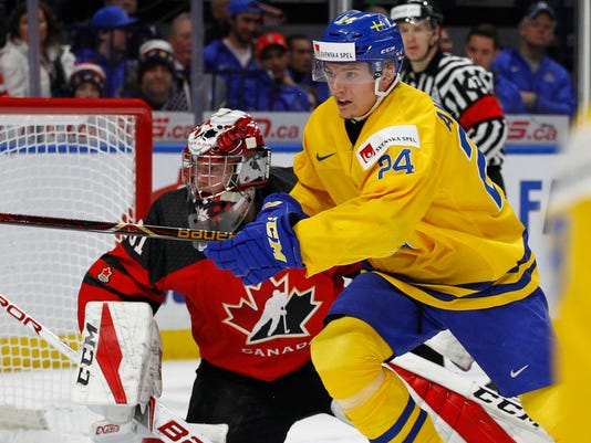 Swedish Player Lias Andersson Throws Silver Medal Into Stands