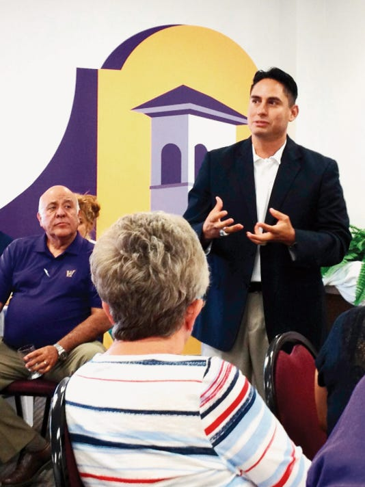 Sen. Howie Morales discusses capital outlay and colonais funding with the Silver City/Grant County Chamber of Commerce on Thursday in Silver City. Randal Seyler - Sun-News