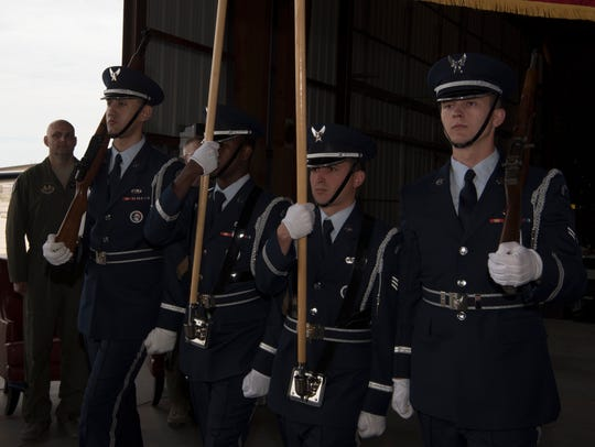 Holloman's Steel Talons Honor Guard presents the American