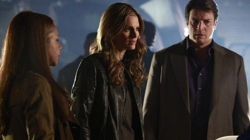 Beckett and Castle. (Photo: Ron Tom, ABC)