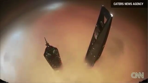Footage of daredevils' illegal climbs breathtaking...