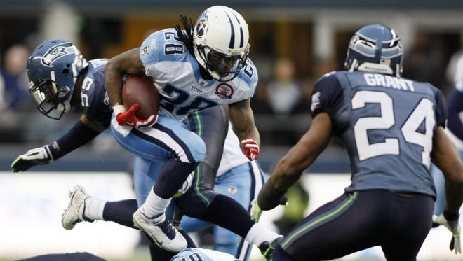 Jan. 3, 2010: With this run against the Seahawks, Chris Johnson became just the sixth player (at the time) to rush for 2,000 yards in a season.