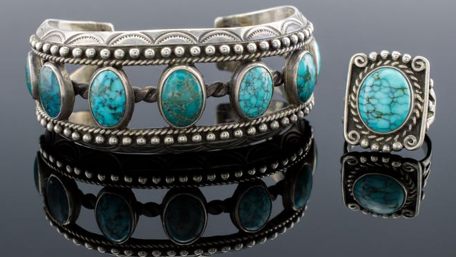 J. Levine Auction & Appraisal recently saw a bidding frenzy for this Fred Peshlakai bracelet, which sold for $6,500.