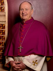 Bishop Richard Pates stands for a portrait provided by the Diocese of Des Moines.